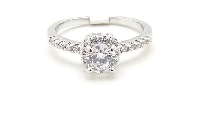 Bellissimo anello di alta bigiotteria pregiata in argento 975 e brillanti certificati